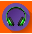 Realistic headphones icon Flat design vector image vector image
