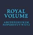 royal volume isolated english alphabet 3d vintage vector image