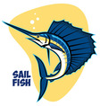 sailfish vector image