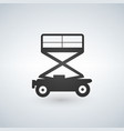 scissors lift icon on white background vector image