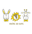 set cute animals faces panda giraffe and vector image