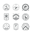 Set of hunting label vector image