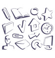 sketches the internet icons vector image