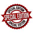 special edition label or sticker vector image vector image
