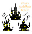 spooky halloween haunted house collection vector image