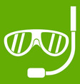 swimming mask icon green vector image vector image