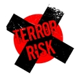 Terror Risk rubber stamp vector image