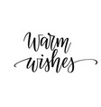 warm wishes christmas seasonal greeting vector image vector image