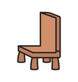 wooden chair furniture comfort icon vector image