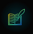 writing a book colorful icon vector image vector image