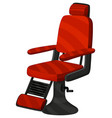 barber chair in red color vector image