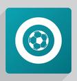 flat football ball icon vector image