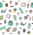 hipster objects background vector image