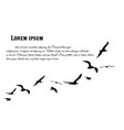 a flock flying birds poster vector image