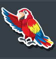 a parrot sticker character vector image vector image