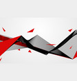 abstract line red black background concept vector image vector image