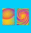 abstract memphis colorful card background set vector image vector image