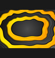 abstract yellow and black smooth waves background vector image vector image