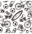 Active Recreation Seamless Pattern vector image