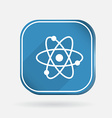 atom molecule Color square icon vector image