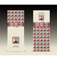 Banners or with strap buckle geometric pattern ret vector image vector image