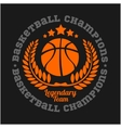 Basketball championship logo set and design vector image
