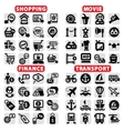 big web icon set vector image
