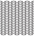 black and white wave pattern vector image vector image