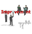 businessman making improvement vector image vector image