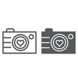 camera line and glyph icon photography and love vector image vector image