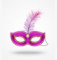 carnival masks with feathers vector image vector image