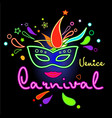 carnival venice neon vector image vector image