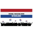 Cheering or Protesting Crowd Netherlands vector image vector image