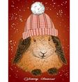 Christmas Funny Bunny vector image