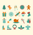christmas icons icons vector image