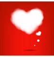 Cloud From Hearts vector image vector image