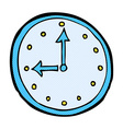 comic cartoon clock symbol vector image