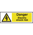 Danger Electric Shock Risk Safety Sign vector image vector image