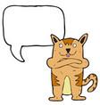 Digitally drawn cat and speech bubble design hand