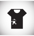 dirty tshirt icon on white background for graphic vector image