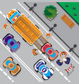 evacuation cars on street vector image vector image