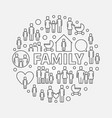 family minimal round vector image