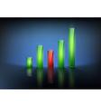 financial graph chart vector image
