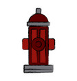fire hidrant emergency signal connector icon vector image