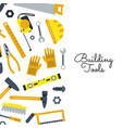 flat construction tools building elements vector image vector image