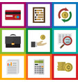 flat icon incoming set of calculate interchange vector image vector image