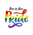 gay pride poster rainbow spectrum flag vector image vector image