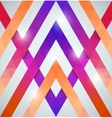 Geometric shining pattern with triangles vector image vector image