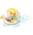 Girl on a boat vector image vector image