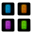 glowing neon smartphone with contacts on screen vector image
